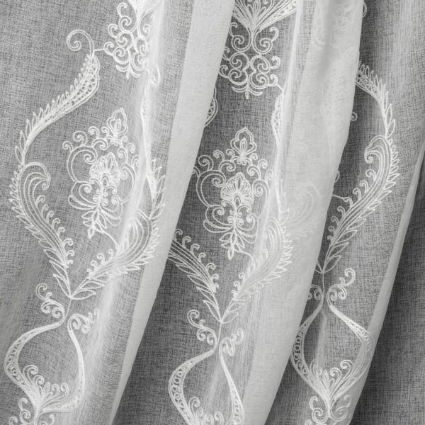 Лен вышивка 280 см - 627 белый