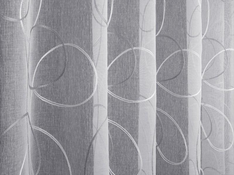 Лён вышивка L5929-2, цвет белый стальной, 280 см