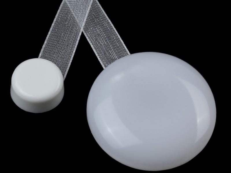 Магнит для штор Нефрит с лентой №61, цвет белый