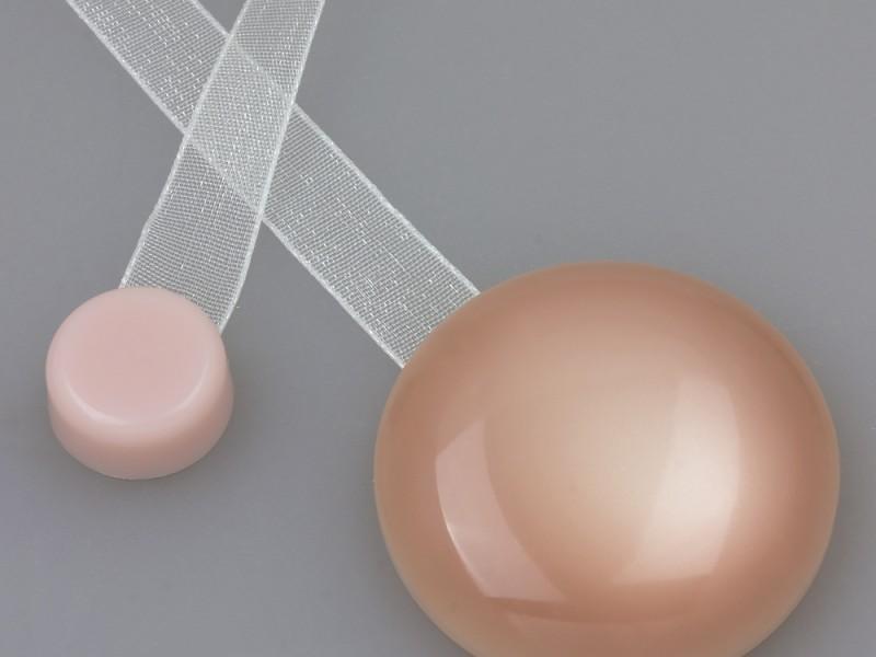 Магнит для штор нефрит с лентой №62 Розовый