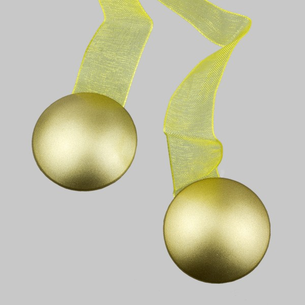 Магнит для штор СМ 4 на ленте, матовое золото