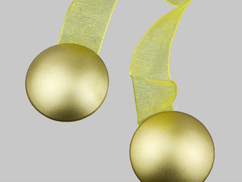 Магнит для штор СМ 4 на ленте, цвет  матовое золото