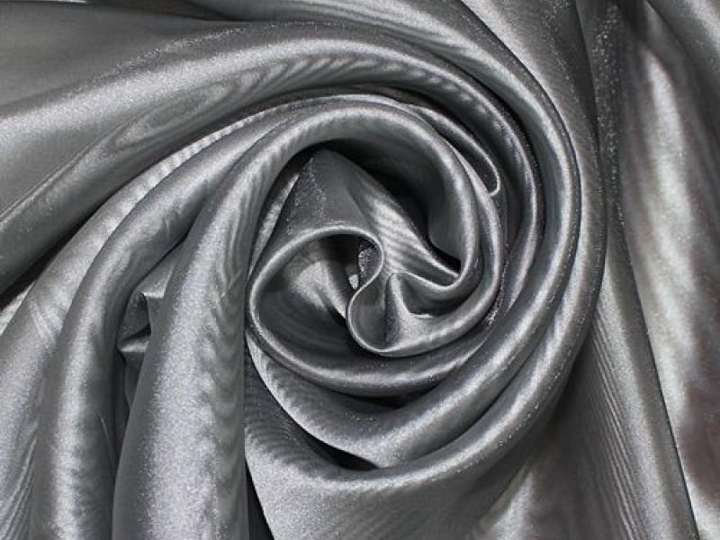Микровуаль однотонная, цвет стальной