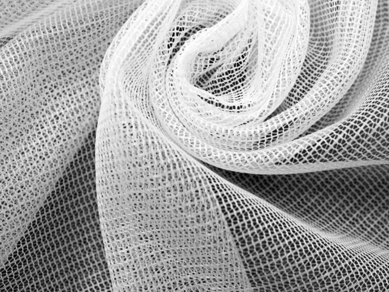Сетка однотонная, цвет белый