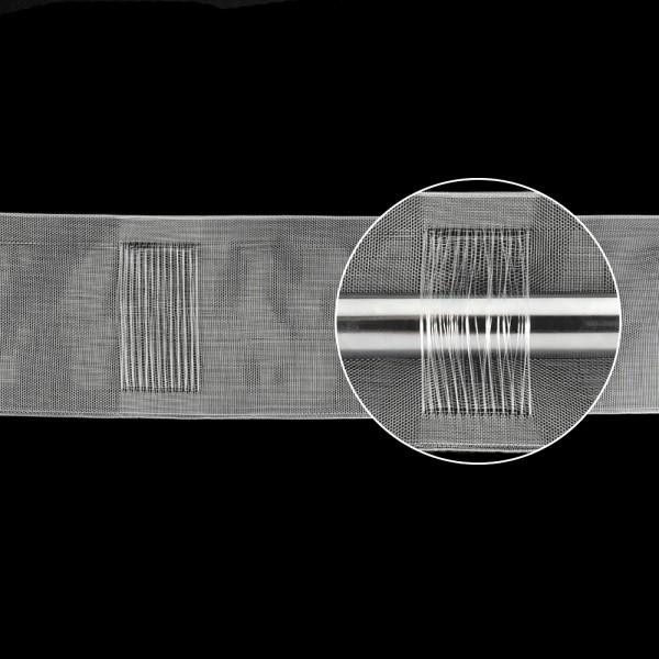 Шторная лента (имитация люверсной ленты)  10 см