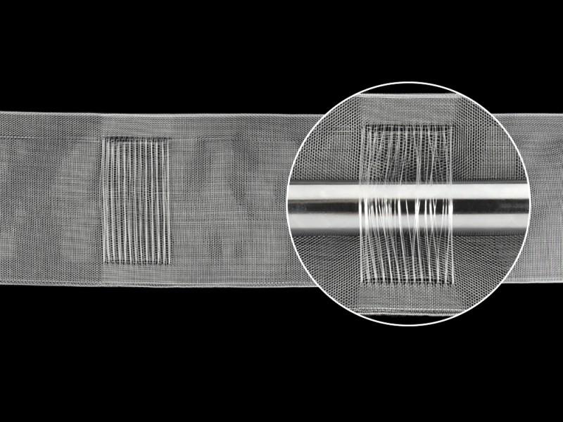 Шторная лента (имитация люверсной ленты), ширина 10 см