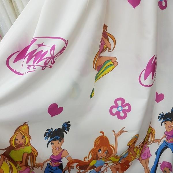 Ткань портьерная Жаккард Winx, детская