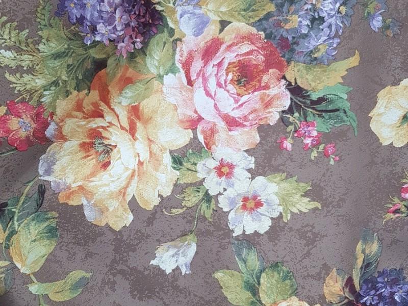 Сатин печать, рисунок Цветы