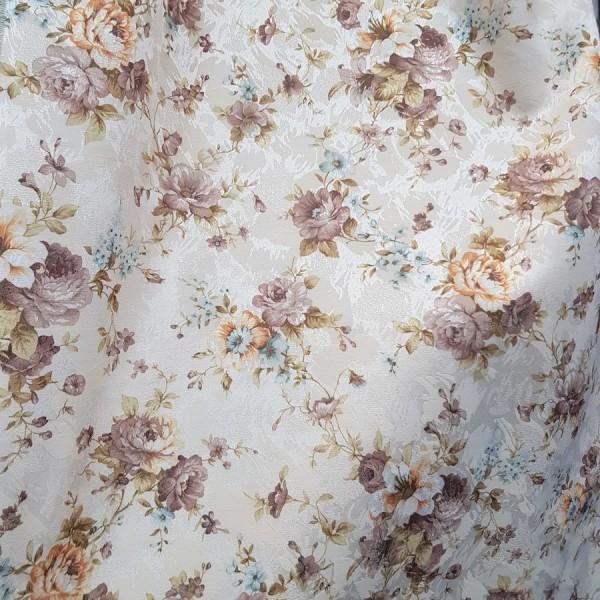Сатен печать Цветы, ширина 150 см