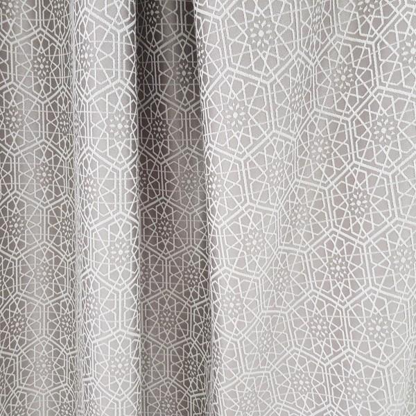 Ткань портьерная Жаккард Геометрия, серый