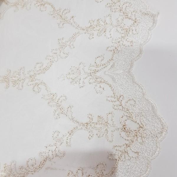 сетка вышивка с шенилом