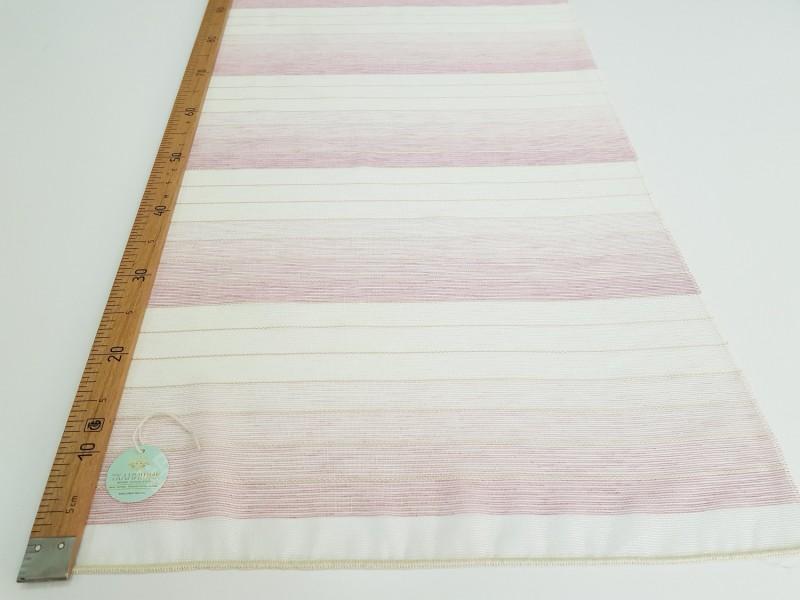 Сетка лен Полоса, розовый, высота 3,0 м.