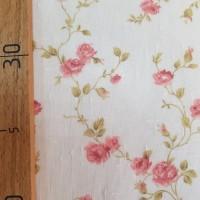 Лен тюль с рисунком красные цветы
