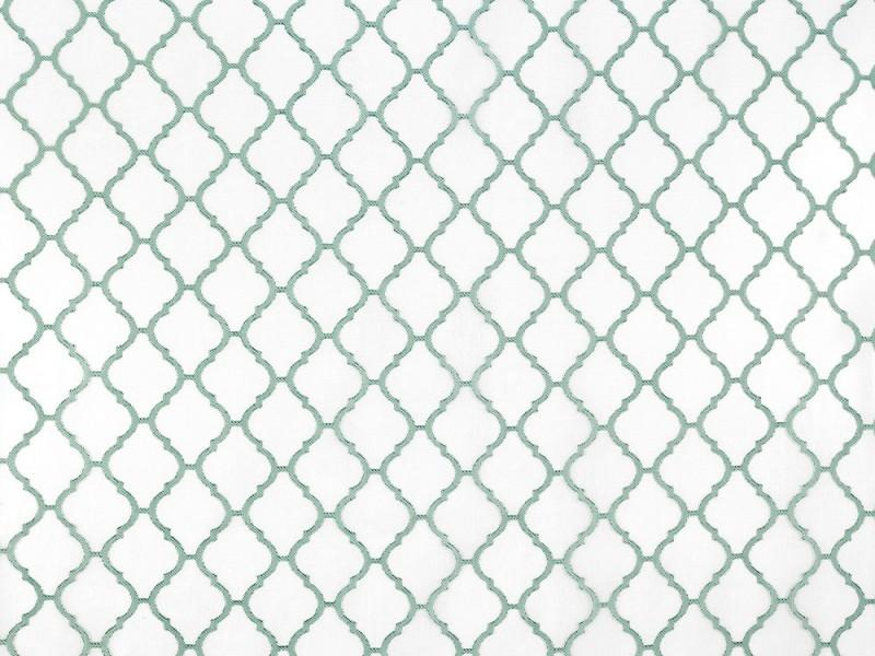 Лен тюль деворе, цвет бирюзовый