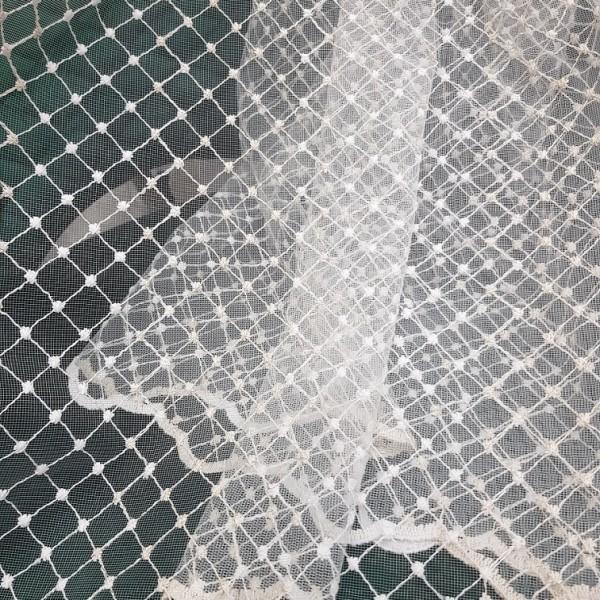 Ткань сетка вышивка 121477