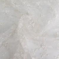 Сетка вышивка, цвет молочный, остаток 5; г.ш. 5.0х2.68 метров