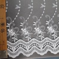 Сетка вышивка белая, остаток 5.2 м.