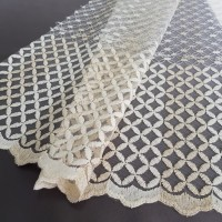 Сетка вышивка кремовая, h-2.8 метра