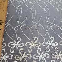 Сетка вышивка кремовая