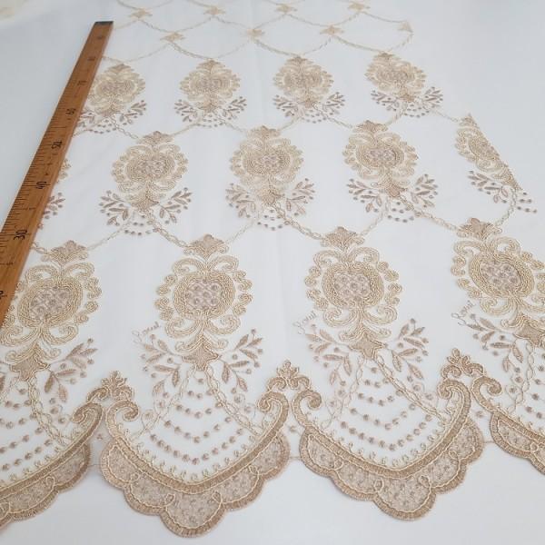 Сетка вышивка Купон, остаток 5; 13.5 м.