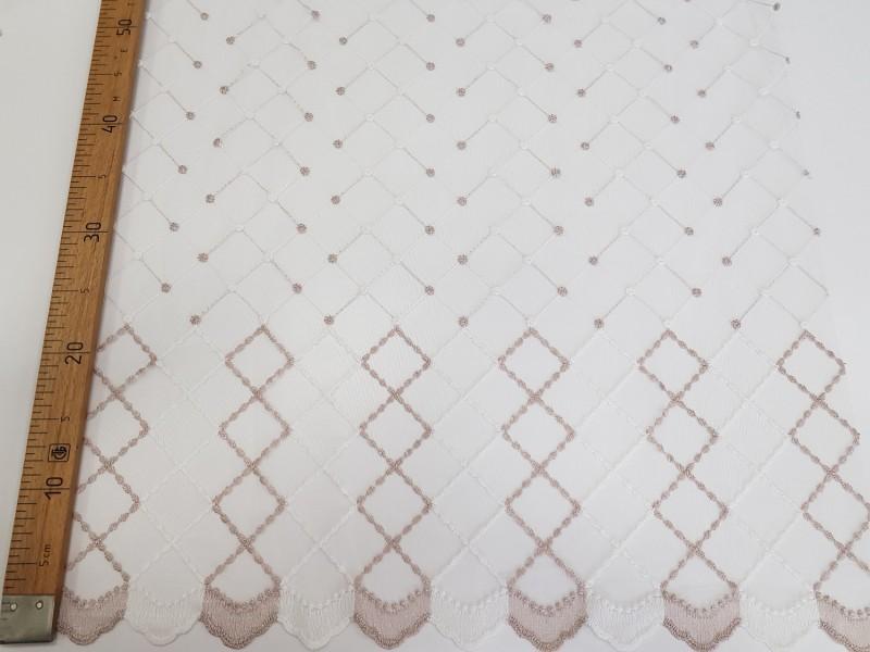 Сетка вышивка Ромбы