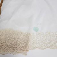 Сетка вышивка по низу,  цвет бежевый, остаток 2.5; 5.0; 4.0 метра