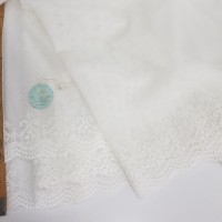 Сетка вышивка белая
