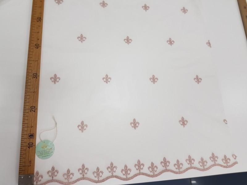 Сетка вышивка Лилия, остаток 21.5 м.