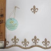 Сетка вышивка с рисунком Лилия, остаток 16.5 метров