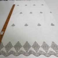 Сетка вышивка соты, цвет серый