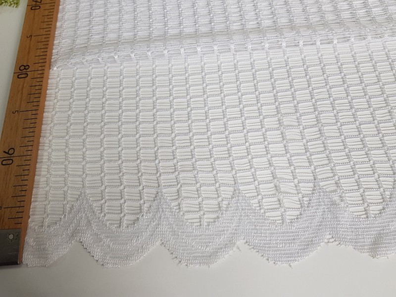 Сетка, цвет белый, готовая штора