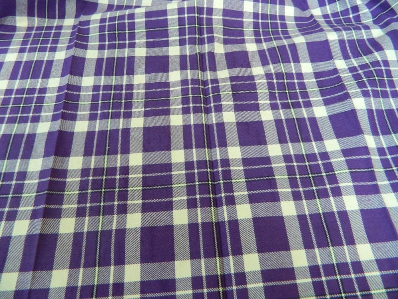 Ткань Клетка (Англия), фиолетовый, ширина 1.6 м.
