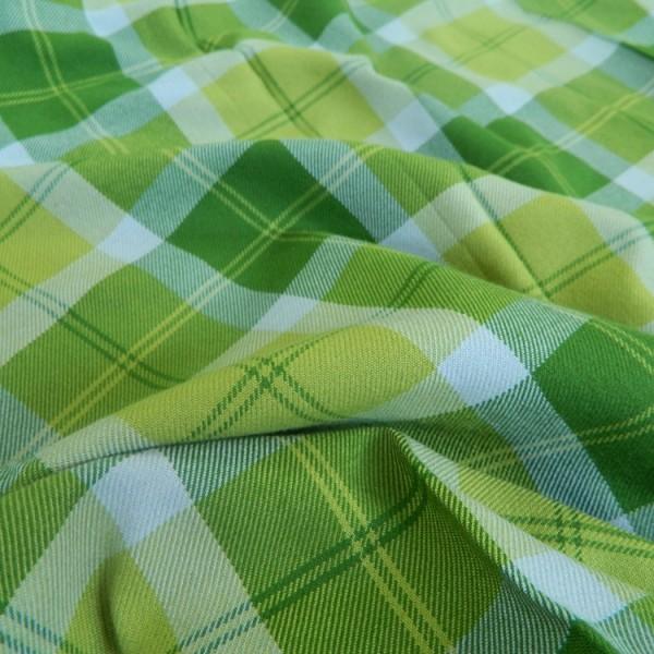 Ткань Клетка (Англия), зеленый, желтый, ширина 1.6 м.