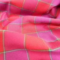 Ткань Клетка (Англия), цвет красный, розовый, ширина 1.6 м.