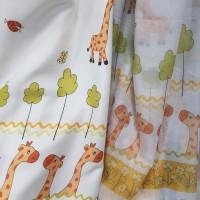 Ткань вуаль для детской комнаты, Жирафы