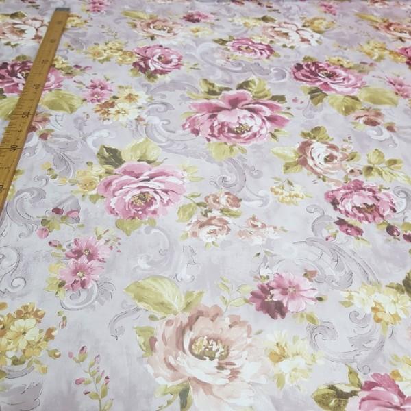 Вуаль печать Цветы / остаток 4.5 м.