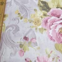 Вуаль печать Цветы, остаток 4.5 метра